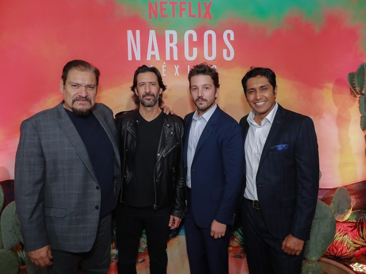 Diego Luna And Michael Peña Host Cocktail Party To Celebrate The Launch Of Their Netflix Show Narcos: Mexico. Mexico, October 30th, 2018.