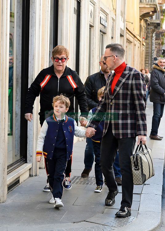 EXCLUSIVE: Elton John celebrates his 71st birthday in Rome with husband David Furbish and sons